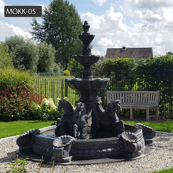 The life size gray marble fountain for home to decor yard for sale MOKK-05 Featured Image