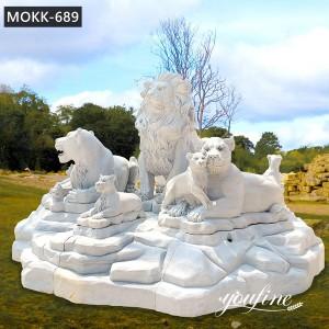 Large Group Family Stone Lion Statue for Sale MOKK-689