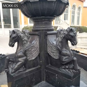 The life size gray marble fountain for home to decor yard for sale MOKK-05