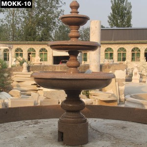 3 Tier Natural Stone Outdoor Water Fountain