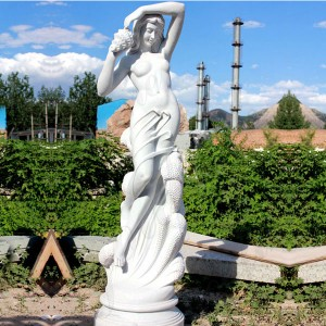 Long Legs Naked Female Stone Statue Beautiful naked Woman Statue
