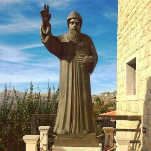 Wholesale Catholic Bronze St.Charbel Statue for Church or Garden Sale BOKK-611