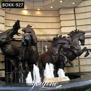 Large Outdoor Bronze Horse Fountain Garden Decor for Sale BOKK-927