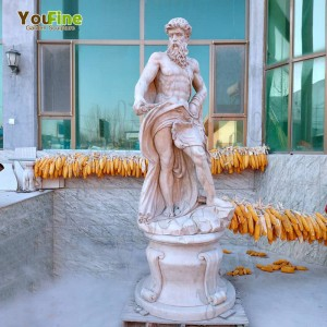 Hand Carved Marble Neptune Statue from Factory Supply MOKK-623