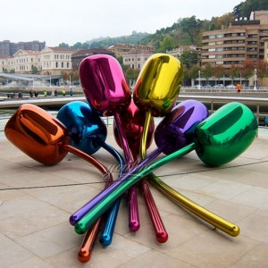 jeff koons tulips mirror sculpture for sale CSS-18