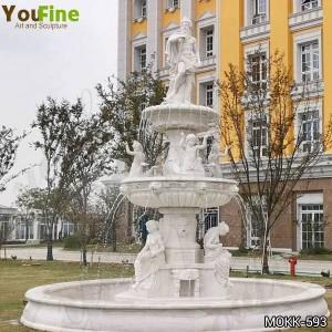 Large stone garden production Marble Poseidon fountain for sale MOKK-593