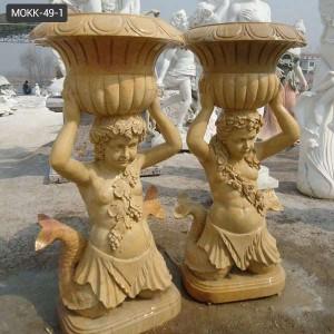 Classical Marble child Flowerpot for garden decor MOKK-49