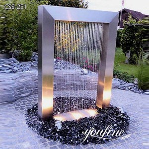 Garden Water Feature Stainless Steel Outdoor Fountain for Sale CSS-251