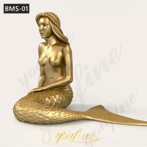 large bronze mermaid statue mermaid statue for sale BMS-01