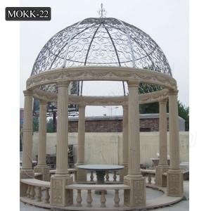 Outdoor hand carved decoration popular marble gazebos designs MOKK-22