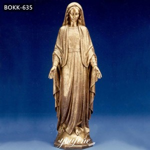 Outdoor Bronze Virgin Mary Statue Church Decor for Sale BOKK-635