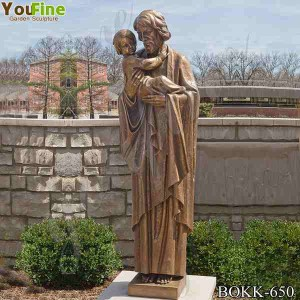 Life Size Bronze St Joseph Statue Religious Sculpture for Church or Garden BOKK-650