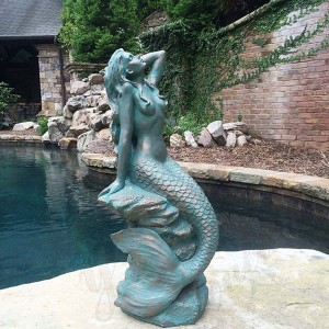 Outdoor Mermaid Statue Large Outdoor Mermaid Statues Large Bronze Mermaid Statue Life Size Mermaid Statue BOKK-704