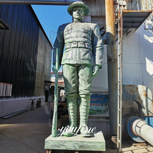 17ft Large Outdoor Bronze Doughboy Military Statues for American Customers