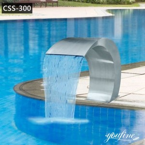 Stainless Steel Pool Water Fountain Garden Decor for Sale CSS-300