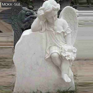 Hand Carved High Quality Marble Baby Angel Headstones for Sale MOKK-568