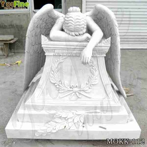 Buy Hand Carved Marble weeping angel monument headstone with Factory Price MOKK-112