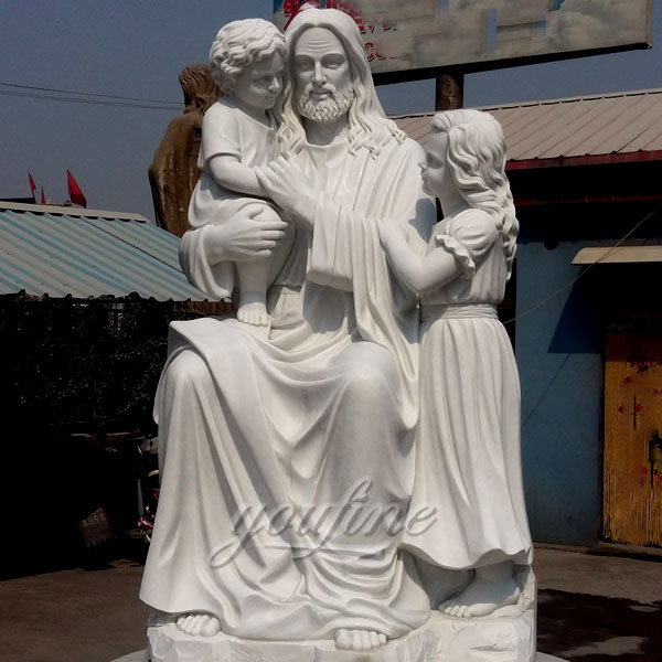 Famous marble sculpture Jesus Holding children sculpture for sale CHS-296 Featured Image