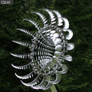 Large size stainless steel outdoor kinetic sculptures for sale CSS-01