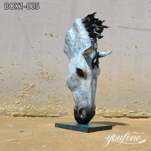 Outdoor Bronze Horse Head Sculpture Factory Supply BOK1-005