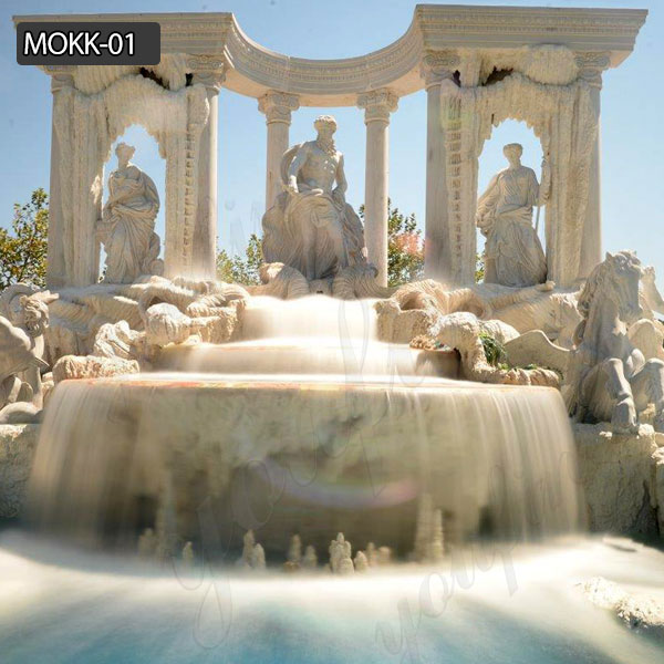 Beautiful Luxury OutdoorTrevi marble fountain for sale at best price MOKK-01 Featured Image