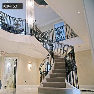 Home decoration hand railing for stairs iron staircase railing IOK-160