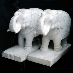 White marble Elephant Sculpture Marble Elephant Statue Price