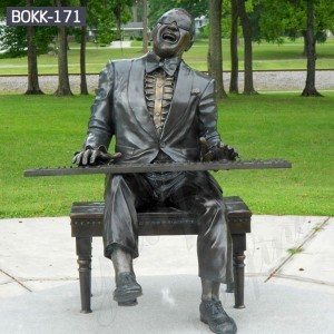 Custom Made Statues Custom Life Size Statues Male Female Sculpture Lawn Sculpture of Ray Charles BOKK-171