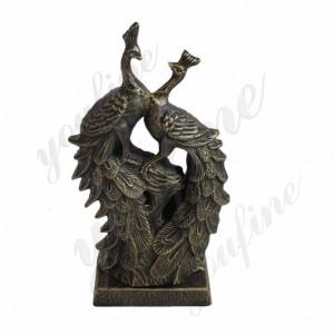 Bronze peacock garden statue peacock statue for sale