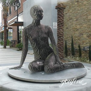 Modern Abstract Metal Human Sculpture for Sale CSS-324