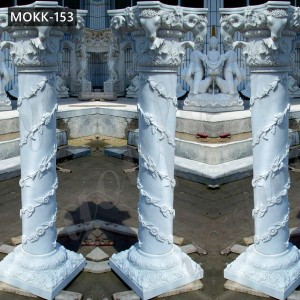Hand Carved Roman Marble Wedding Columns for Sale MOKK-153