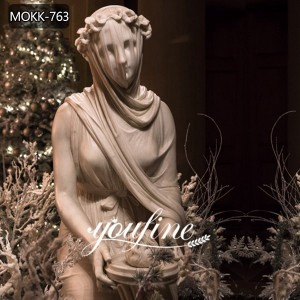 Life Size Hand Carved Veiled Vestal Virgin Marble Lady Sculpture for Sale MOKK-763