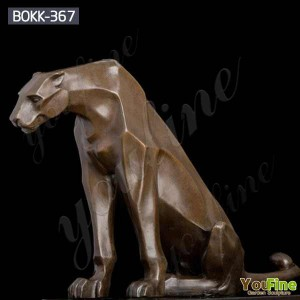 Life Size Casting Bronze Leopard Statue Sculpture for Sale 	BOKK-367