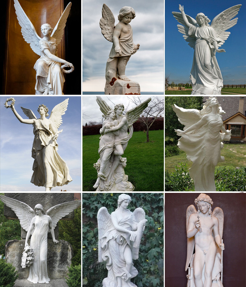 Marble angel statues designs