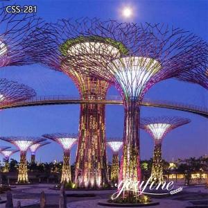 Giant Outdoor Lighting Metal Tree Sculpture for Urban Decor CSS-281