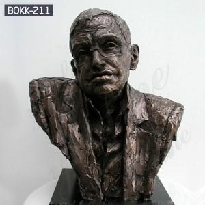 Bronze Bust Statue of Hawking Famous Figure Bronze Bust Sculpture BOKK-211