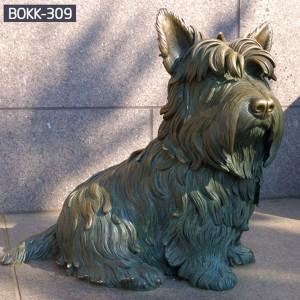 Metal Dog Yard Art Life Size Dog Statues Dog Garden Statues BOKK-309