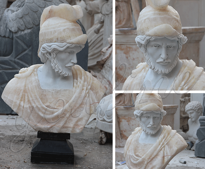 MOKK-338 custom made famous roman bust life size marble statues for sale