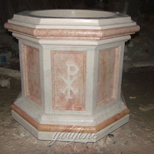Hand carved pure natural marble religious catholic home altar supplies CHS-323