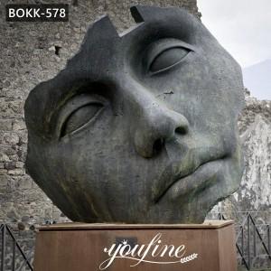 Modern Abstract Bronze Face Sculpture Igor Mitoraj Replica for Sale