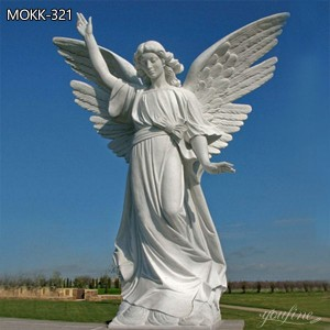 White Marble Life Size Angel Statue for Sale MOKK-321