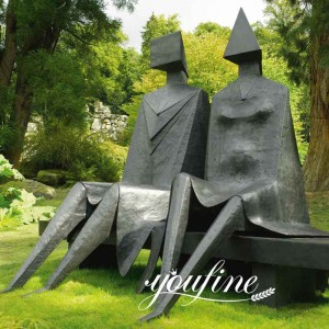 Abstract Bronze Sitting Couple Statue Lynn Chadwick Sculpture Online for Sale BOKK-969