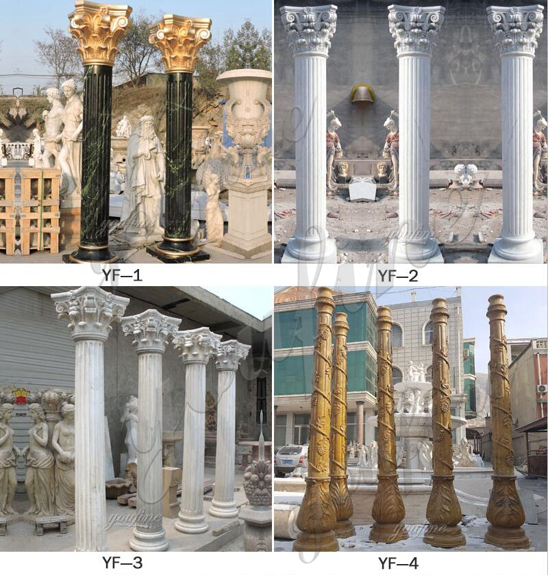front pillars for house decoration