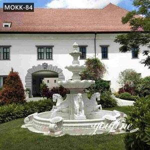 Elegant Horse Fountain Statues Ponds Home Garden Decor for Sale MOKK-84