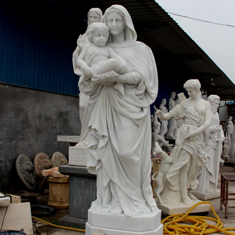 life size virgin mary with baby statue for sale_副本