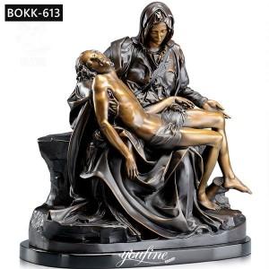 Outdoor Bronze Pieta Statue Religious Garden Statue Wholesale BOKK-613