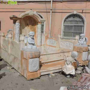 Luxury Hand Carved Marble Grave Angels Ornaments for Sale MOKK-323