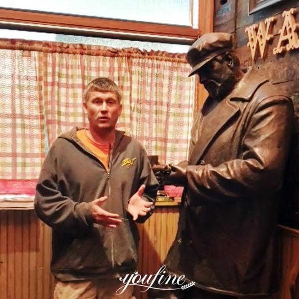YouFine Custom Bronze Man Sculpture for Michigan Pub of the US