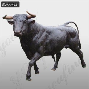 Large Antique Casting Bronze Bull Statue for Garden Decor Factory Supply BOKK-722
