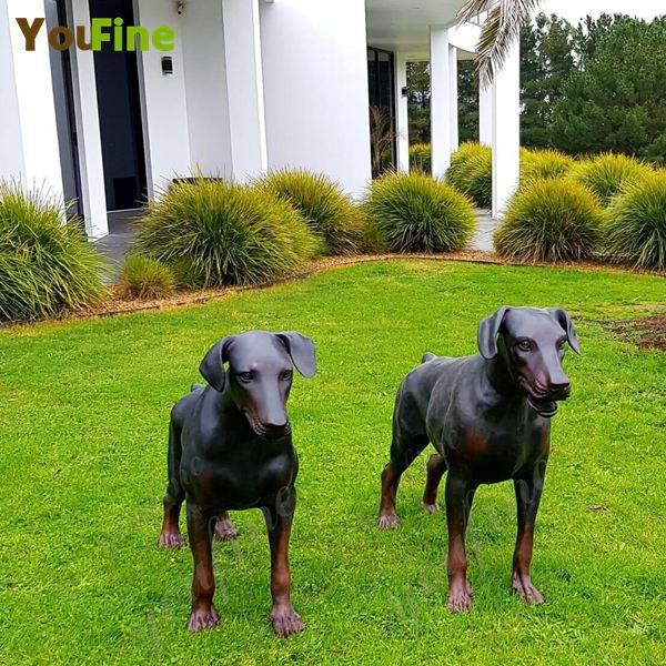 'Pair of Custom Antique Bronze Dog Statues-Greet Feedback from Our Valued Australian Customers